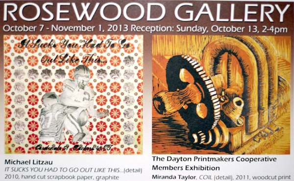 The Dayton Printmakers Members' Exhibition, Rosewood Gallery